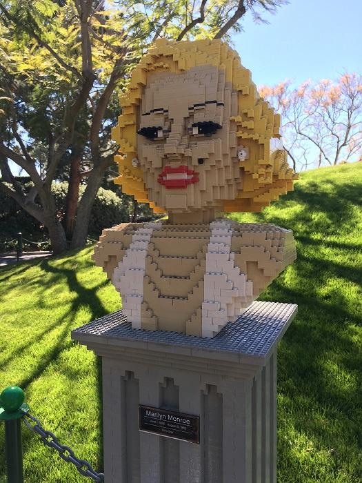レゴで作ったマリリンモンロー