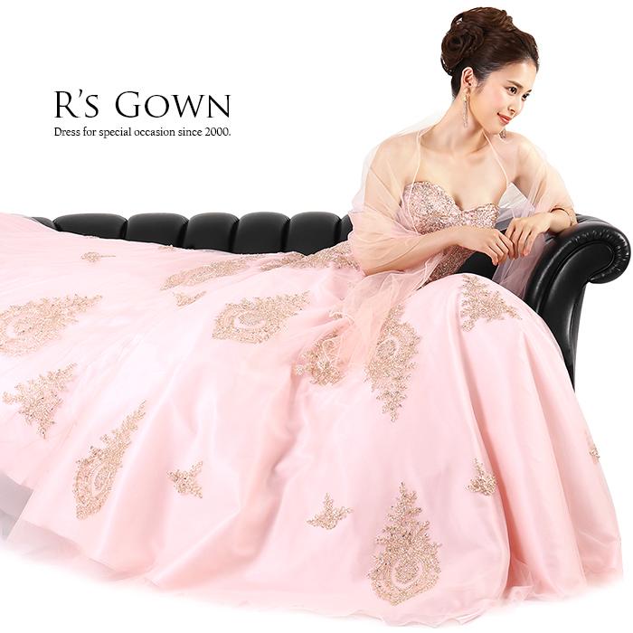 ピンクのピアノ発表会ドレス