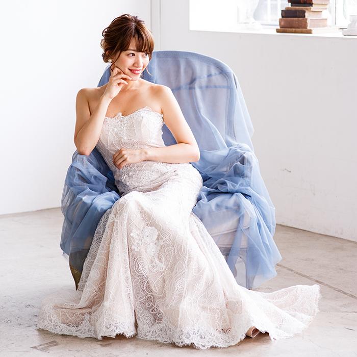 ウエディングドレスとして白ホワイトのロングドレス販売中!